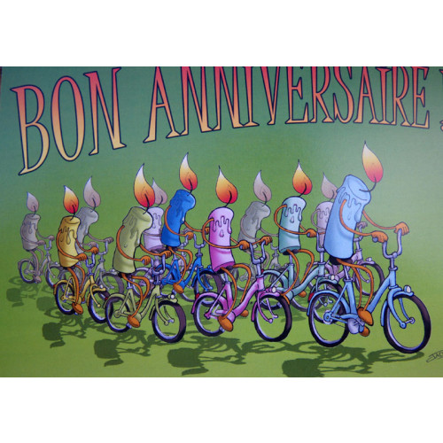 Souvent Au Petit Vélo : carte postale vélo joyeux anniversaire  QX32