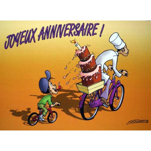 Au Petit Velo Carte Postale Joyeux Anniversaire Aupetitvelo Com Aupetitvelo Com Cadeaux Et Accessoires Pour Cycles