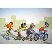 Carte postale vélo solidaire