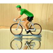 Figurine cycliste : maillot vert