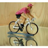 Figurine cycliste : maillot rose du vainqueur du tour d'Italie