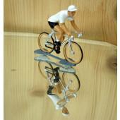 Figurine cycliste : maillot blanc du vainqueur du tour d'Allemagne