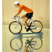 Figurine cycliste : maillot orange du vainqueur du tour de Hollande