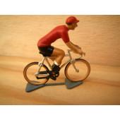 Figurine cycliste : maillot rouge du vainqueur du tour d'Espagne
