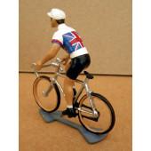 Figurine cycliste : maillot anglais en danseuse