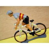 Figurine cycliste : maillot espagnol en danseuse
