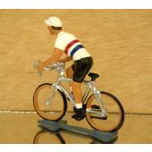 Figurine cycliste : maillot hollandais en danseuse