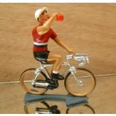 Figurine cycliste : maillot du Luxembourg à la gourde