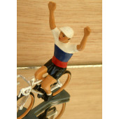 Figurine cycliste : maillot de Russie bras levés