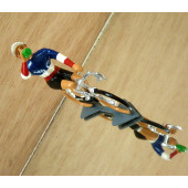 Figurine cycliste : champion de France à la gourde