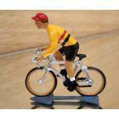 Figurine cycliste : champion de Belgique en danseuse