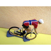 Figurine cycliste : maillot de Norvège