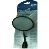 Rétroviseur BUSCH&MULLER Cycle star 903/1, fixation sur cintre et embout de guidon, diamètre 80mm
