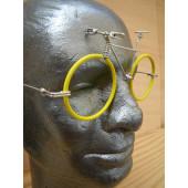 Vélo lunettes jaunes guidon VTT