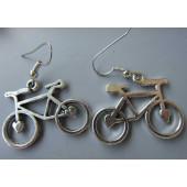 Boucles d'oreilles vélo coeur