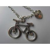 Pendentif argent petit vélo au coeur