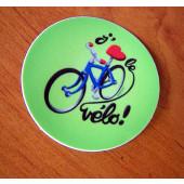 """Autocollant """"J'aime le vélo"""""""