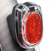 Feu arrière SECULA Permanent BUSCH+MULLER à piles, fixation sur garde boue arrière
