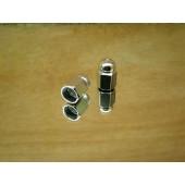 Bouchon de valve en forme de poids argenté