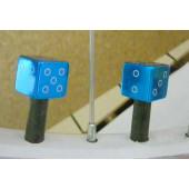 Bouchon de valve en forme de dé bleu glacier