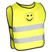 Chasuble de signalisation enfant motif smiley, taille 2-4ans
