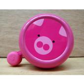 Sonnette cochon rose