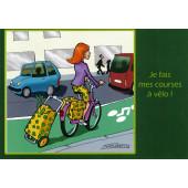 Carte postale courses à vélo