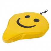 Couvre selle jaune motif Smiley