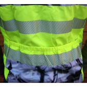 Gilet WIZUO de signalisation, impression cyclistes, taille XL