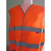Gilet de signalisation orange: XL