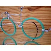 Vélo lunettes vertes guidon de course