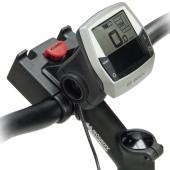 Support de guidon Klickfix Multiclip E, pour fixation d'écran de vélos électriques