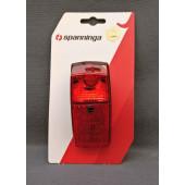 Feu arrière NR 15 à dynamo - ampoule standard - Spanninga, fixation sur garde-boue + câble 210 cm