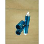 Bouchon de valve en forme d'obus bleu métalisé