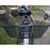Panier arrière noir pour vélo fixation sur porte bagage