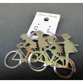 Boucles d'oreilles argent enfants à bicyclette