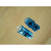 Bouchon de valve en forme de piston bleu