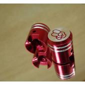 Bouchon de valve en forme de piston rouge