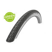 26X1.75 Pneu Schwalbe ROAD CRUISER Noir à flanc blanc - HS484 - GreenCompound - ETRTO 47-559