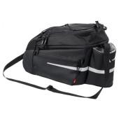 Sacoche arrière Vaude Silkroad L noire, fixation sur plate forme adaptateur Snap-it