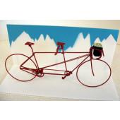 Maquette tandem cyclotouriste rouge