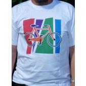 T-shirt blanc motif VTT taille M