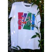 T-shirt blanc motif VTT taille L