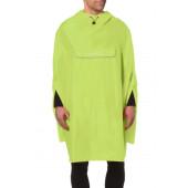 Poncho cape de pluie Valdipino lemon jaune fluo Vaude M
