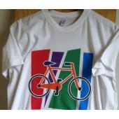 T-shirt blanc motif VTT taille S